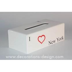 Boite à mouchoirs NEW YORK